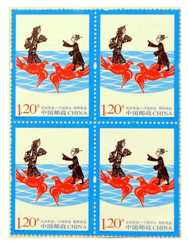 Qixi Festival on postage stamps